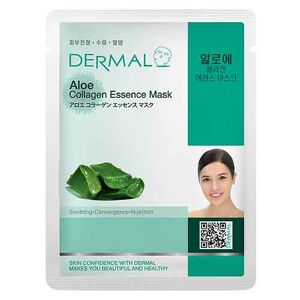 Dermal Korea Aloe Collagen Essence Full Face Sheet Mask