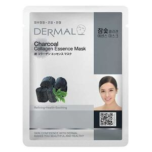 Dermal Korea Charcoal Collagen Essence Full Face Sheet Mask