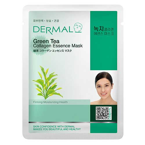 Dermal Korea Green Tea Collagen Essence Full Face Sheet Mask