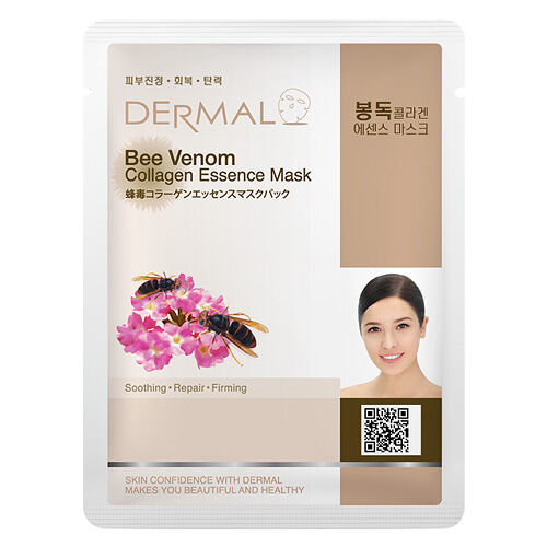 Dermal Korea Bee Venom Collagen Essence Sheet Full Face Mask
