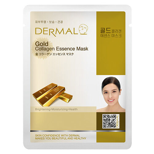 Dermal Korea Gold Collagen Essence Sheet Full Face Mask