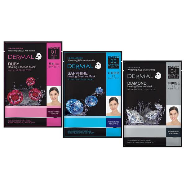 Dermal Jewel Healing Essence Face Mask Combo Pack of 3