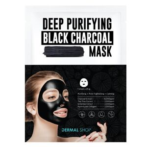 Dermal Shop Deep Purifying Black Charcoal Sheet Face Mask