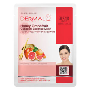 Dermal Korea Honey Grapefruit Collagen Essence Sheet Face Mask