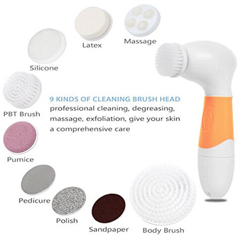 9 In 1 Electric Facial Cleanser Massager For Face Body Foot
