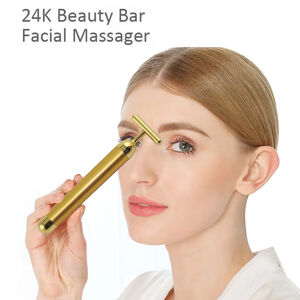 Personal-Mini-Vibrating-Neck-Face-Massager-24K-Gold-Energy-Beauty-Bar