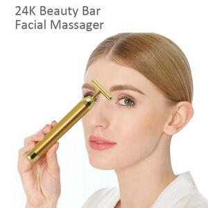 Personal-Mini-Vibrating-Neck-Face-Massager-24K-Gold-Energy-Beauty-Bar