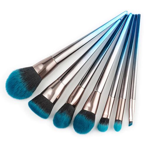 Blue Black Grant Hair Makeup Brushes Kit