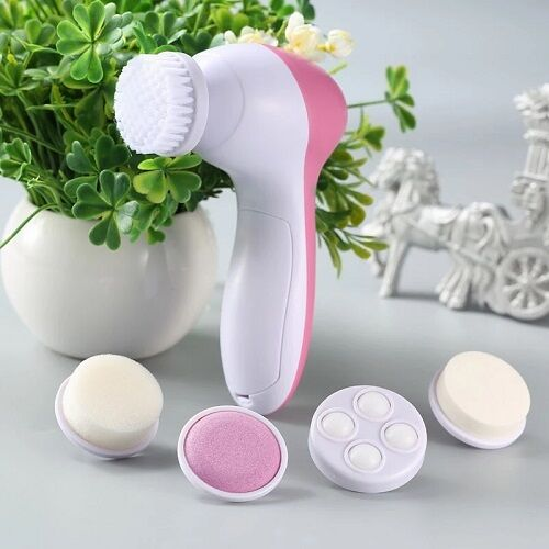 Electronic multifunctional 4 in 1 facial cleansing brush