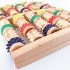 Natural wooden roller acupressure foot spa massager