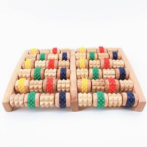 Natural wooden roller acupressure foot spa massager