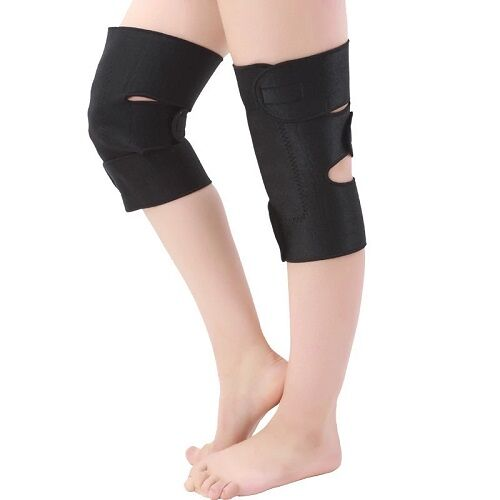 Neoprene tourmaline heated knee pads magnetic knee support brace