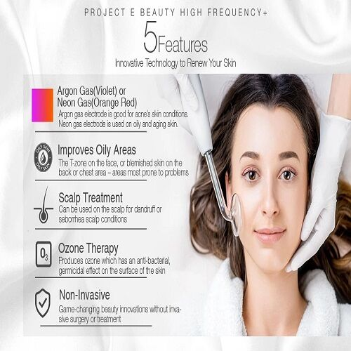 Portable skin tightening high frequency electrode therapy skin rejuvenating