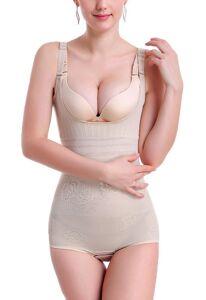 Adjustable Tummy Control Slimming Bodysuit Full Body Shaper For Women